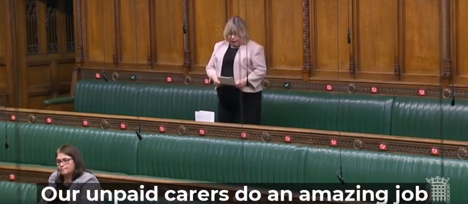 'Our Unpaid Carers do an Amazing Job... ' Support in parliament from Liz Twist MP