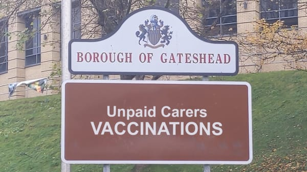 Unpaid Carers Vaccinations in Gateshead